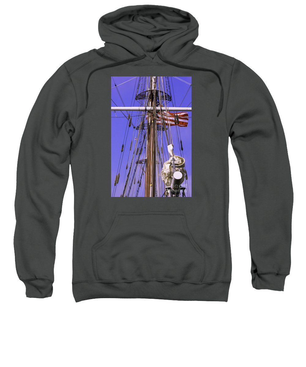 Atlantic Sweatshirt featuring the photograph Mystic's Masts by Joe Geraci