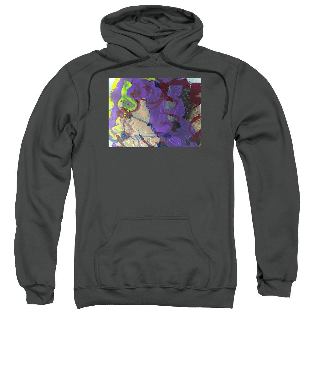 Nail Polish Abstract Sweatshirt featuring the painting Nail Polish Abstract 15-r11 by Virginia Margarita