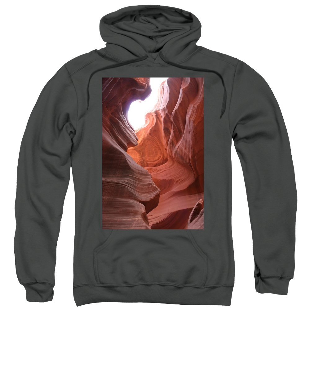 Red Canyon Sweatshirt featuring the photograph Narrow Canyon Xvii by Christiane Schulze Art And Photography