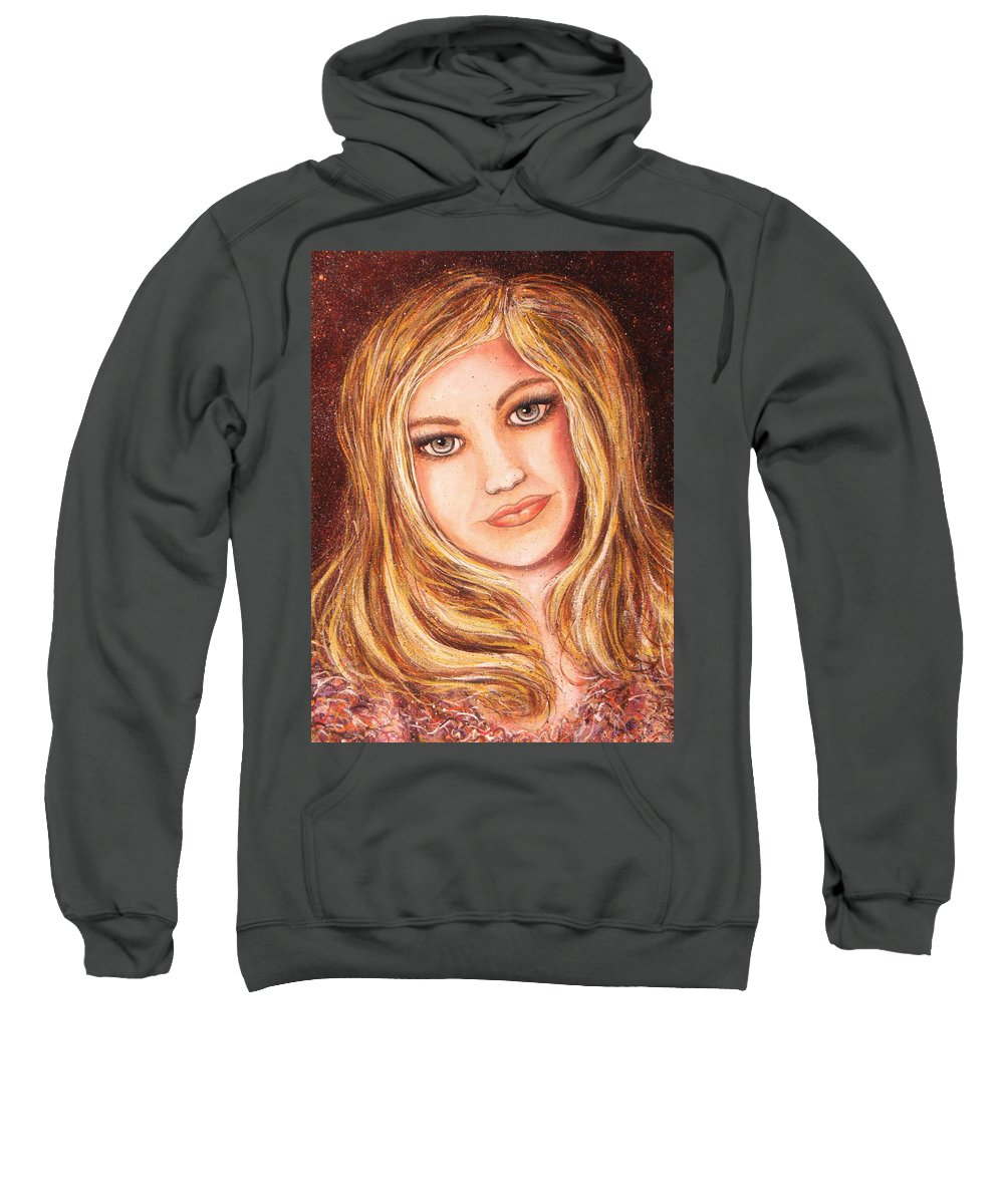 Self Portrait Sweatshirt featuring the painting Natalie Self Portrait by Natalie Holland
