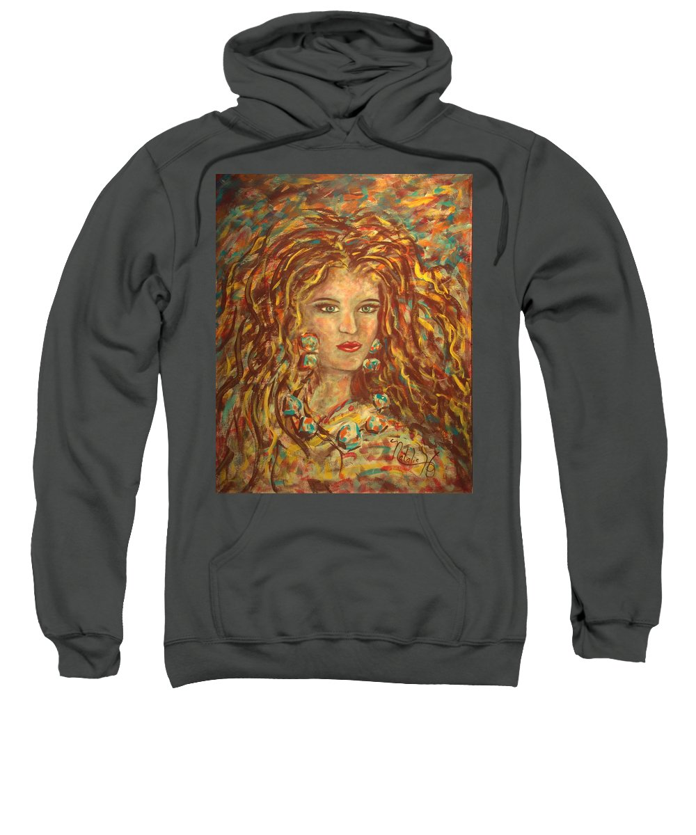 Natashka Sweatshirt featuring the painting Natashka by Natalie Holland