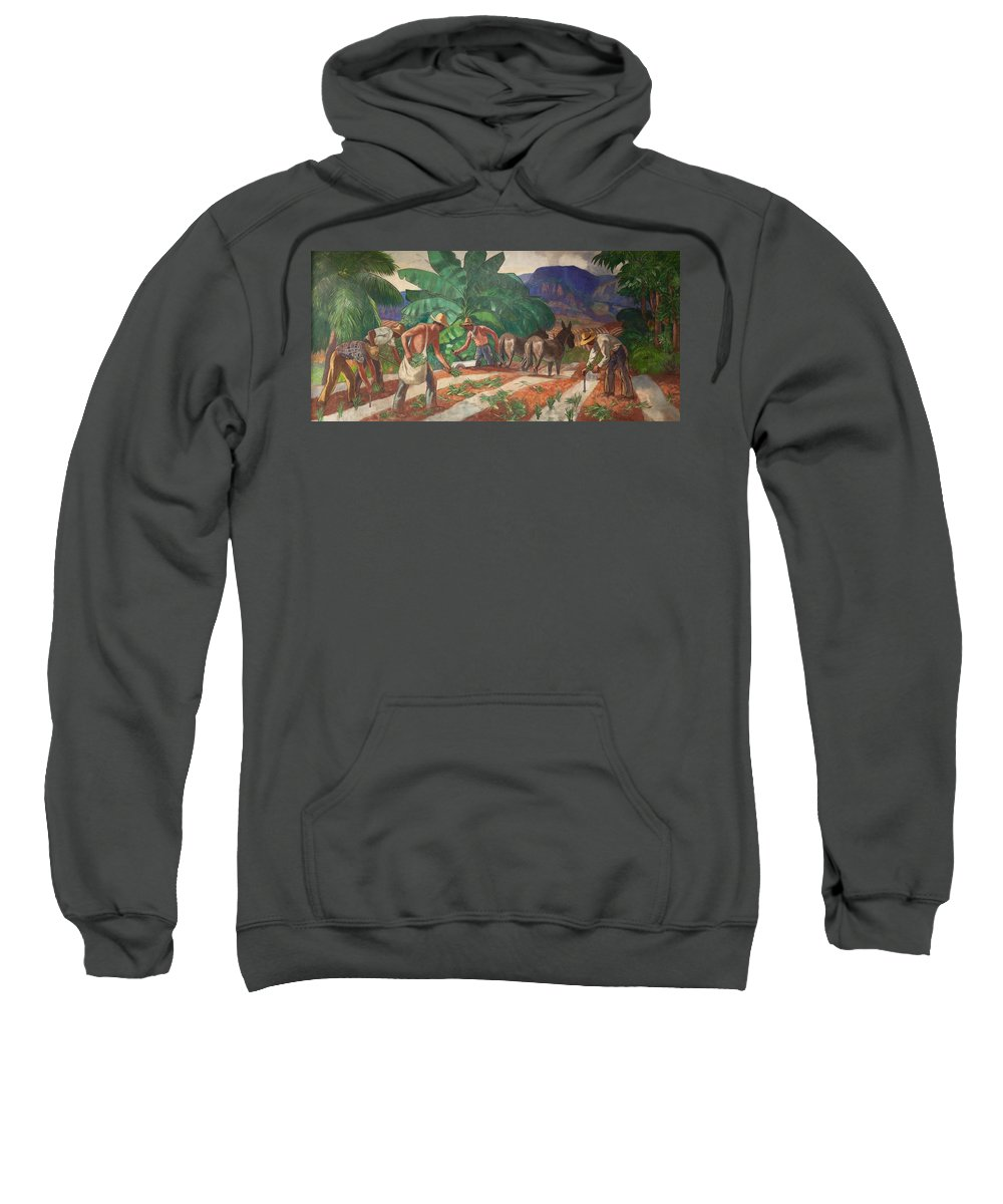 Painting Sweatshirt featuring the painting National Park Service - Tropical Country by Mountain Dreams