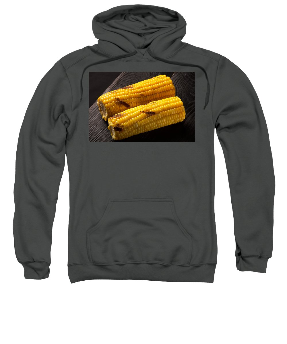 Vadim Goodwill Sweatshirt featuring the photograph Natiral Grilled Corn by Vadim Goodwill
