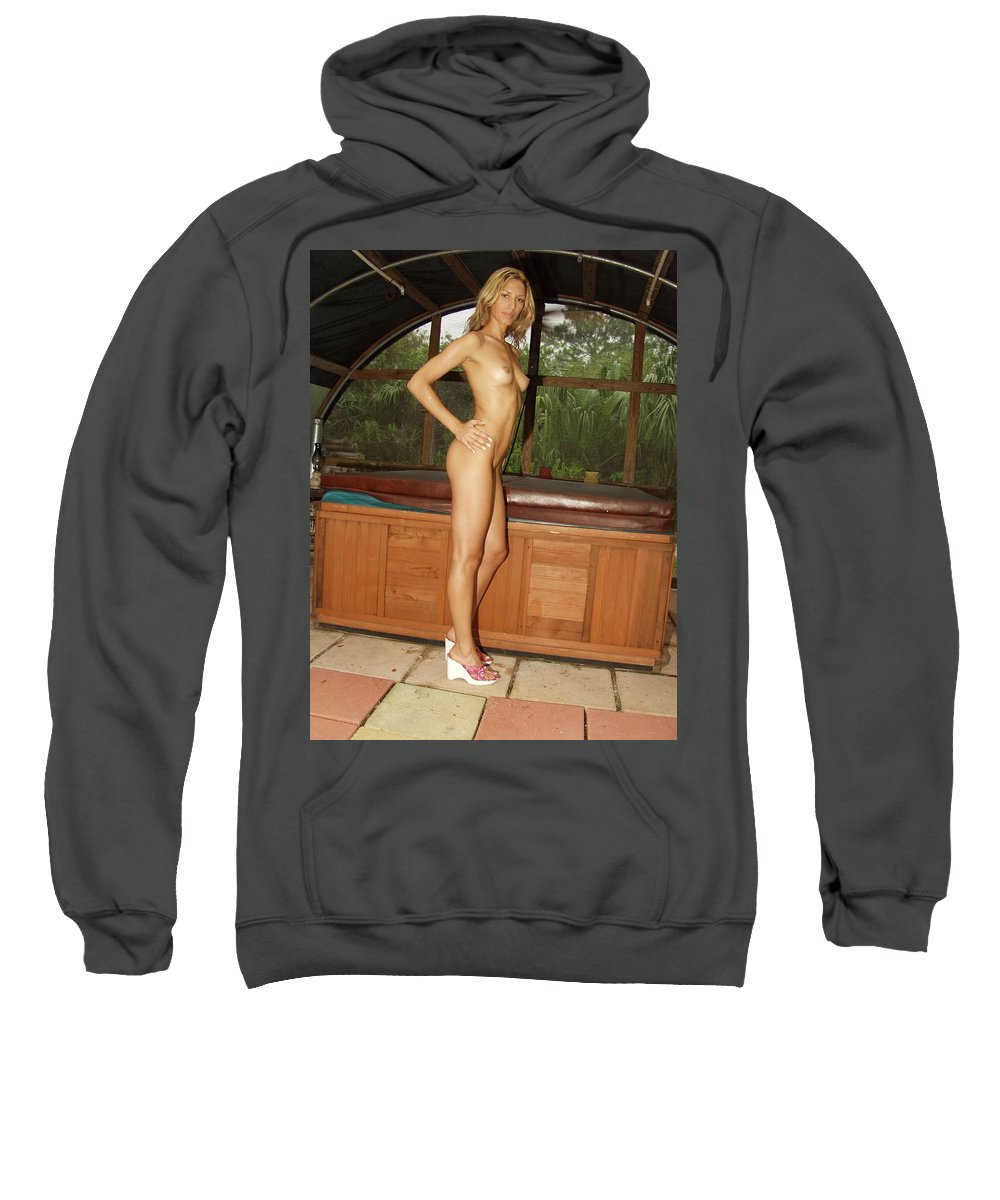 Beautiful Sexy Exotic Natural Female Beauty Glamorous Sweatshirt featuring the photograph Natural Beauty 328 by Lucky Cole