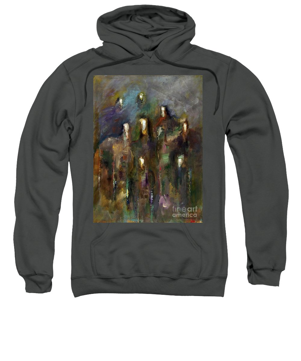 Horses Sweatshirt featuring the painting Natural Instincts by Frances Marino