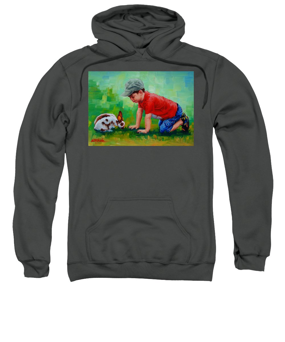 Children Sweatshirt featuring the painting Natural Wonder by Margaret Stockdale