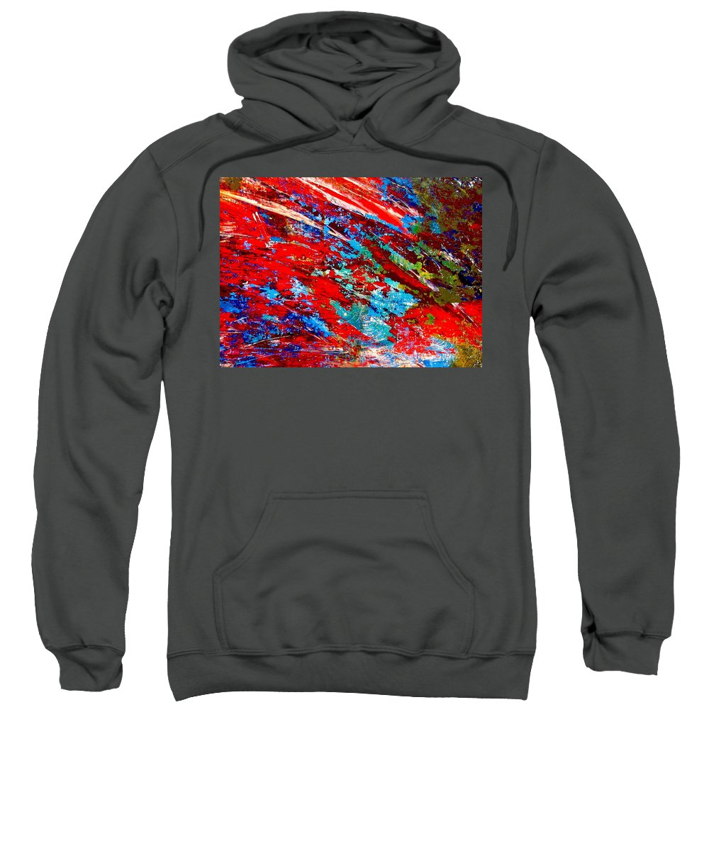 Abstract Sweatshirt featuring the painting Nature Harmony by Natalie Holland