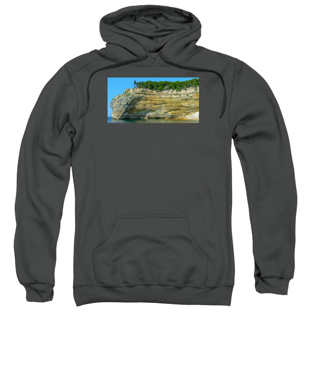 Sandstone Sweatshirt featuring the photograph Nature Made- Indian Head Pictured Rocks by Eric Davenport