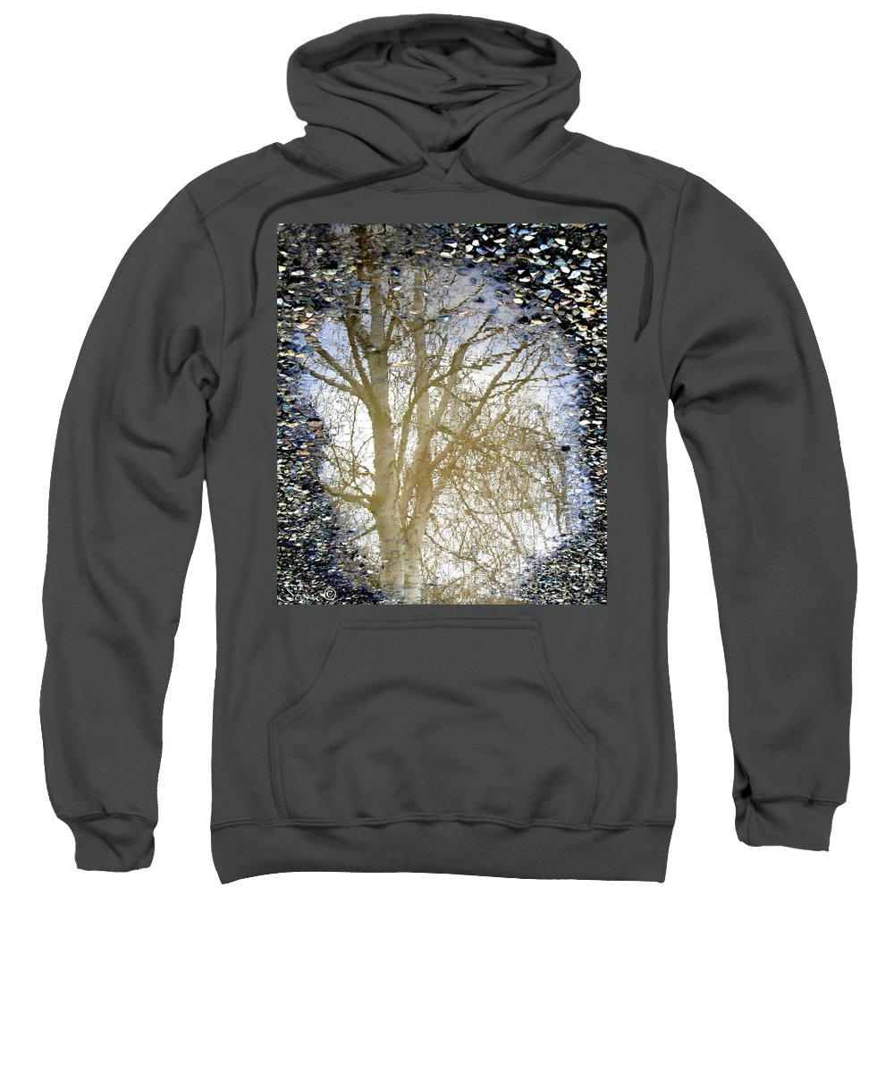 Puddle Sweatshirt featuring the photograph Natures Looking Glass 4 by September Stone