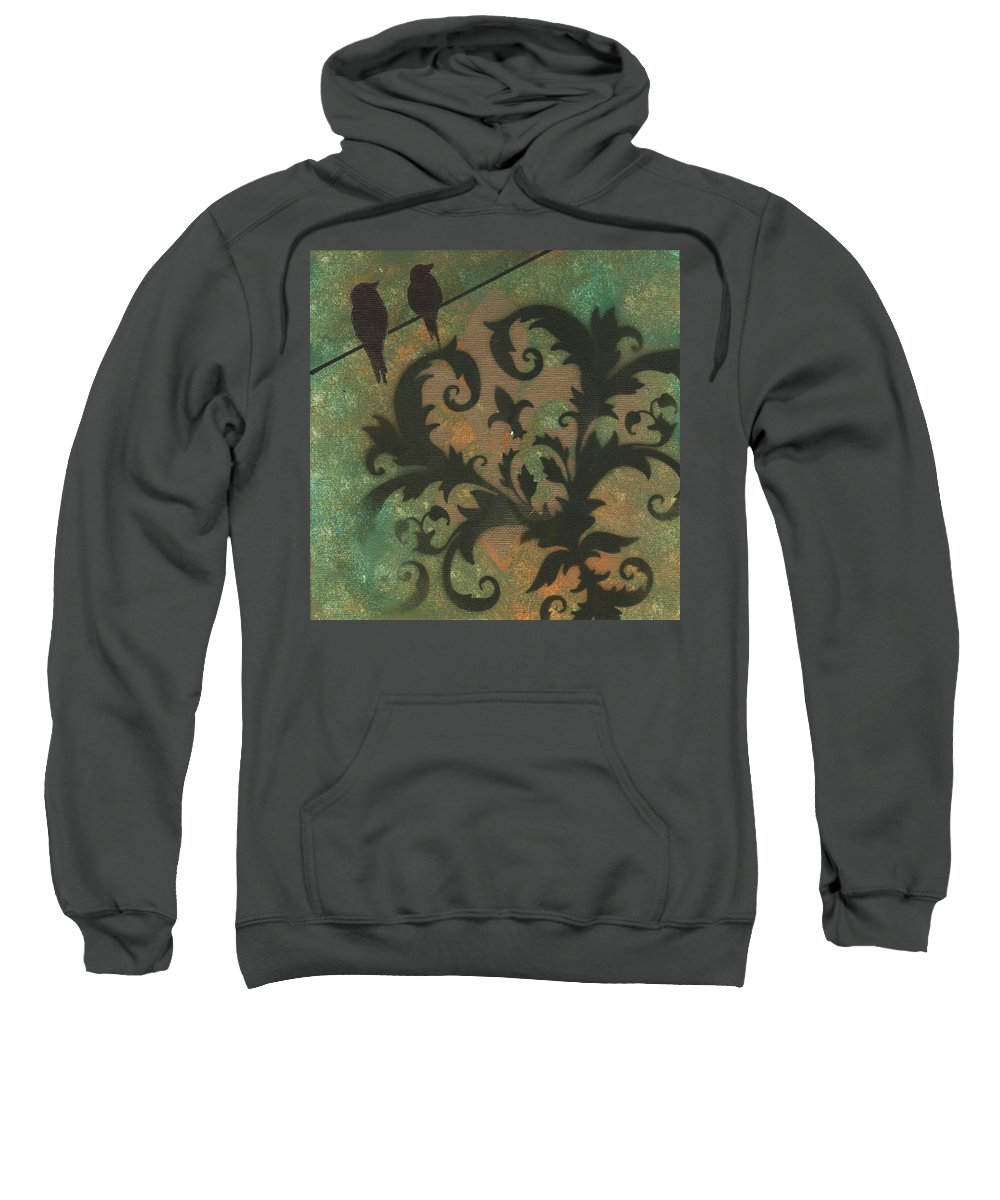 Painting Sweatshirt featuring the painting Natures Whimsy 4 By Madart by Megan Duncanson