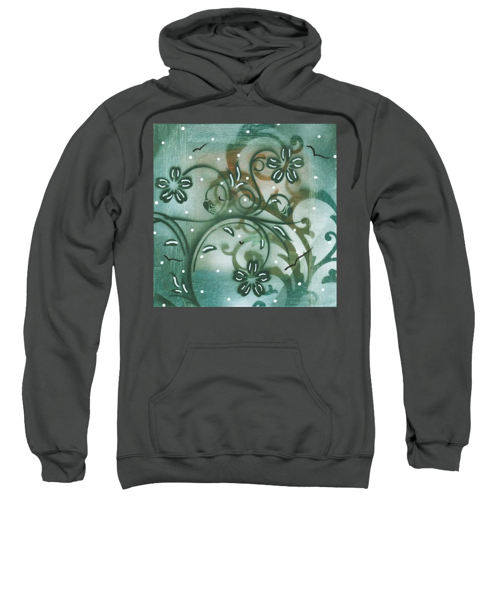 Painting Sweatshirt featuring the painting Natures Whimsy 9 By Madart by Megan Duncanson