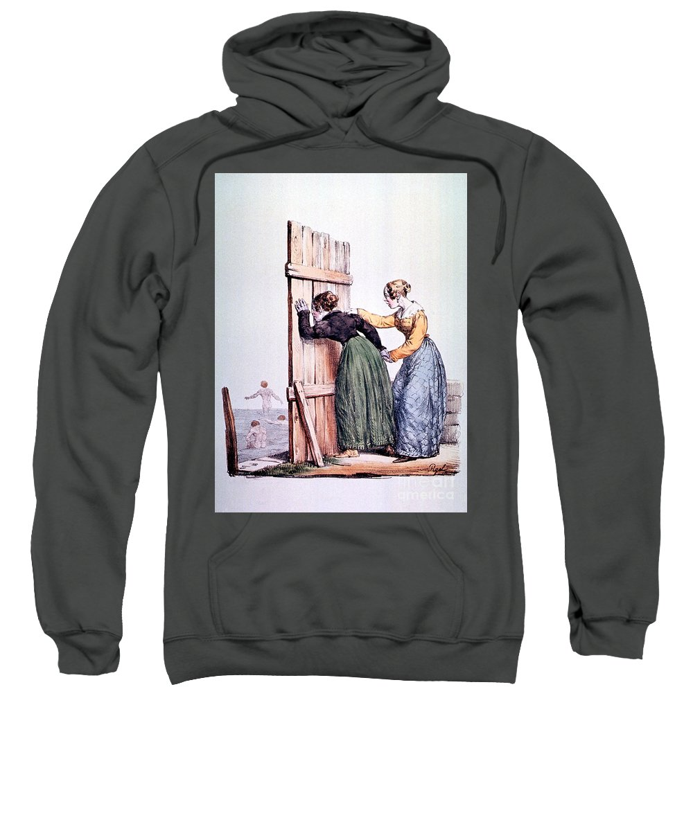 Science Sweatshirt featuring the photograph Naughty Ladies 19th Century by Science Source