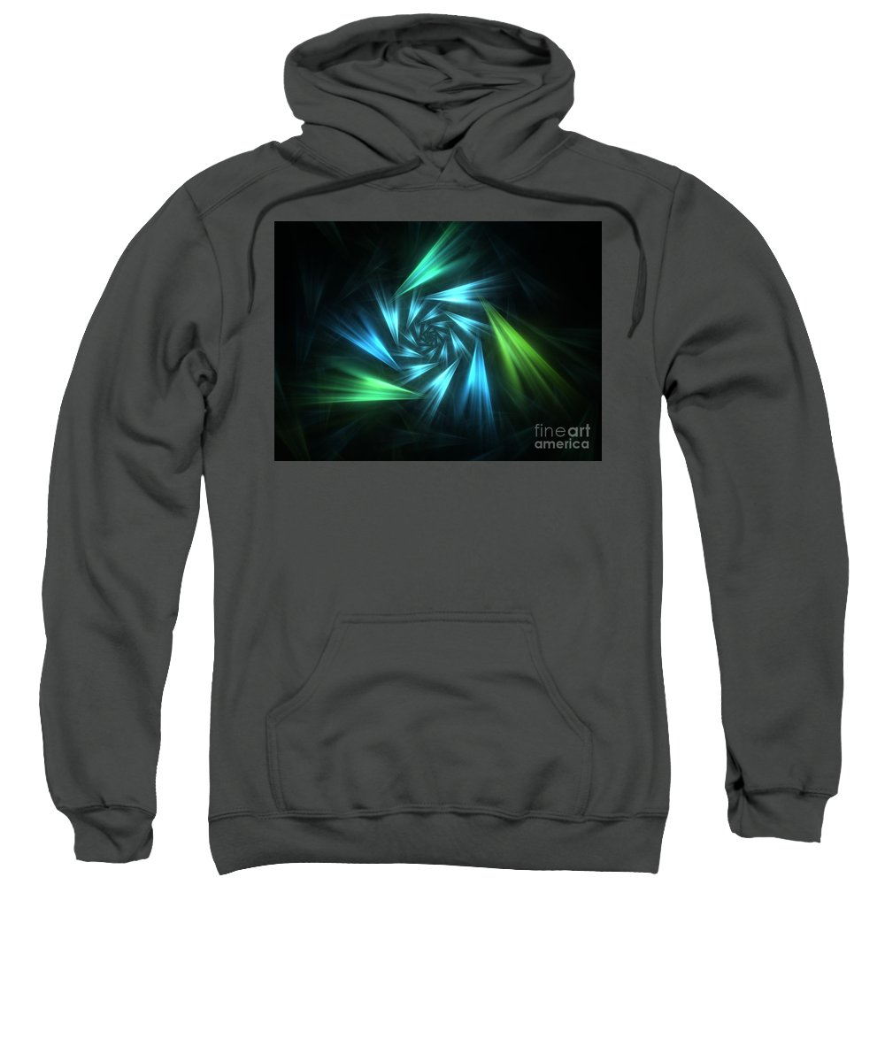 Apophysis Sweatshirt featuring the digital art Nautical Spiral by Kim Sy Ok