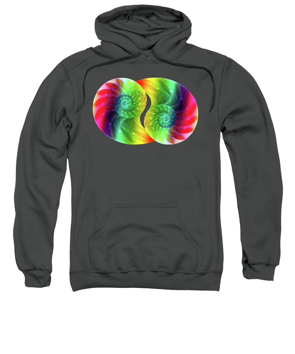 Nautilus Shell Sweatshirt featuring the photograph Nautilus Rainbow by Gill Billington