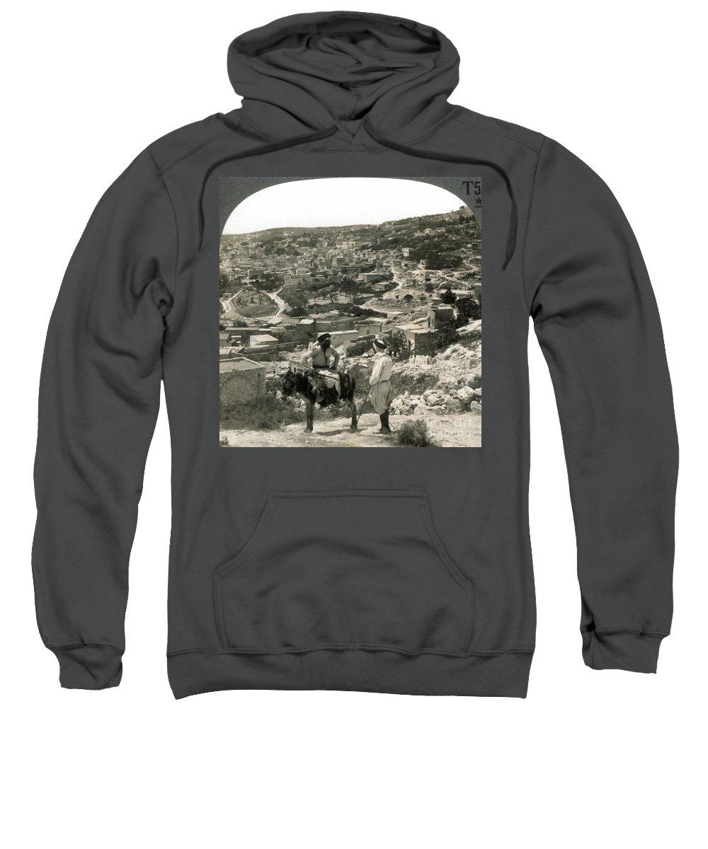 1920s Sweatshirt featuring the photograph Nazareth, Palestine, C1920 by Granger