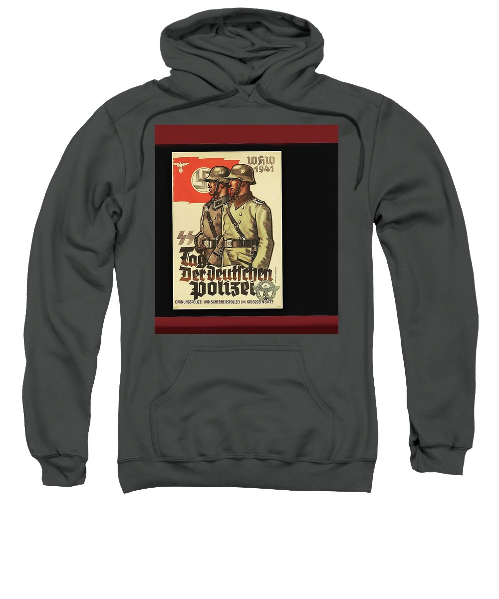 Nazi Propaganda Poster Number 3 Circa 1943 Sweatshirt featuring the photograph Nazi Propaganda Poster Number 3 Circa 1943 by David Lee Guss