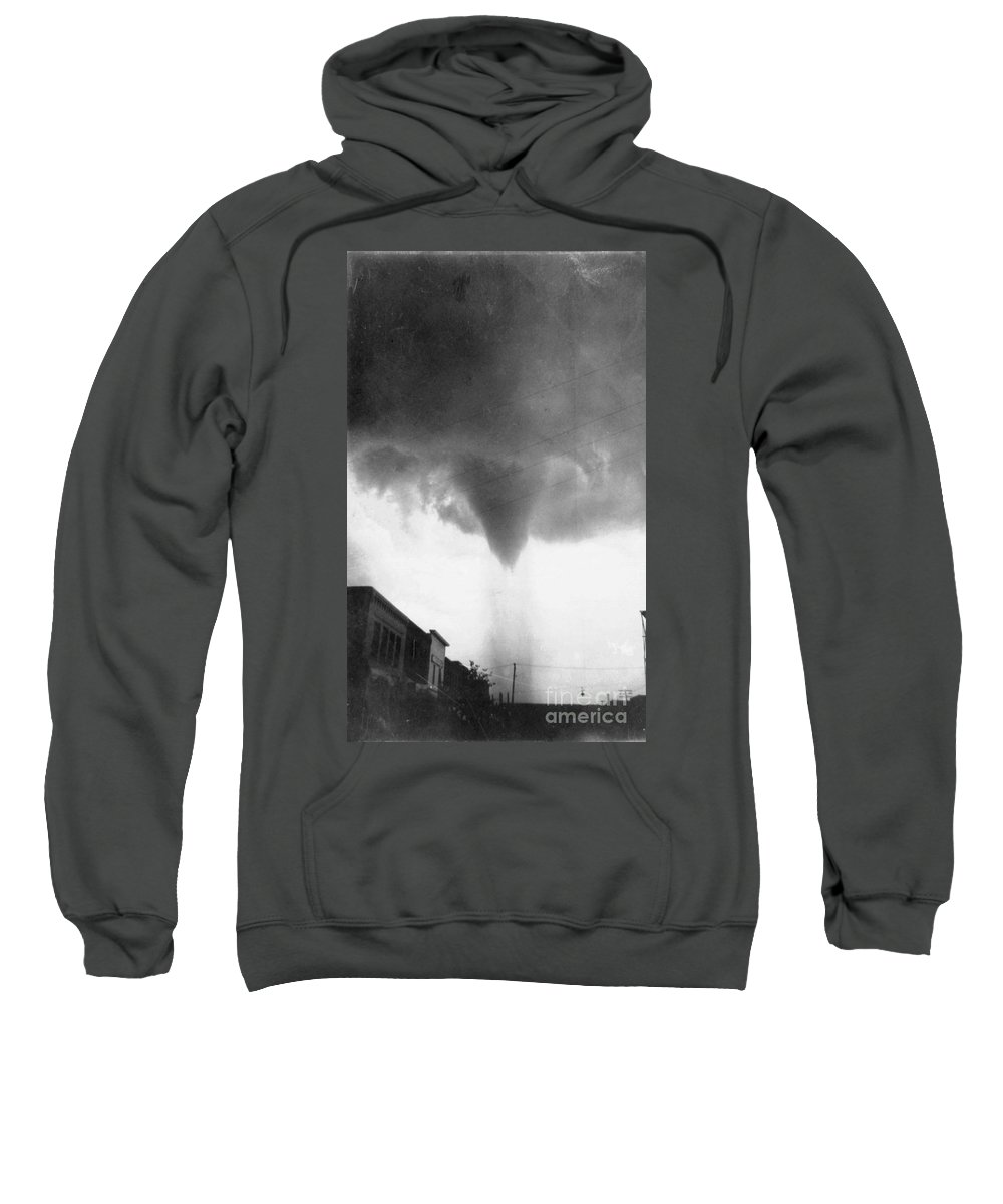 1911 Sweatshirt featuring the photograph Nebraska: Tornado, 1911 by Granger