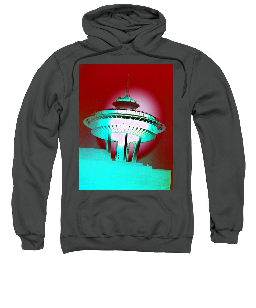 Seattle Sweatshirt featuring the photograph Needle In Red by Tim Allen