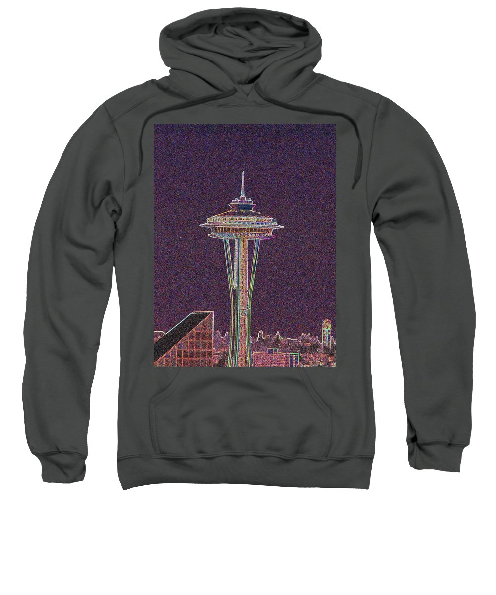 Seattle Sweatshirt featuring the photograph Needle by Tim Allen