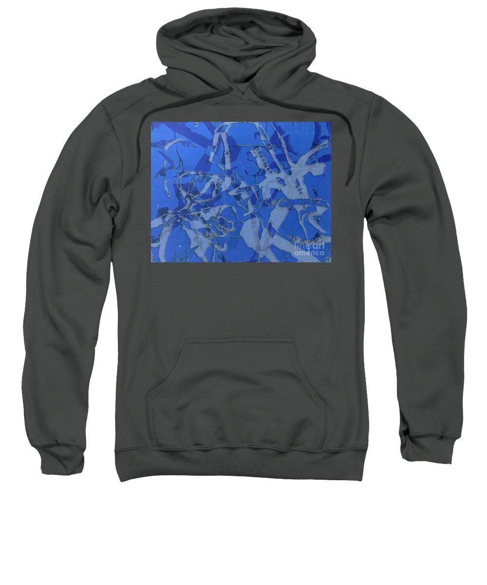 Silkscreen Sweatshirt featuring the digital art Negative Photo Silkscreen by Ron Bissett