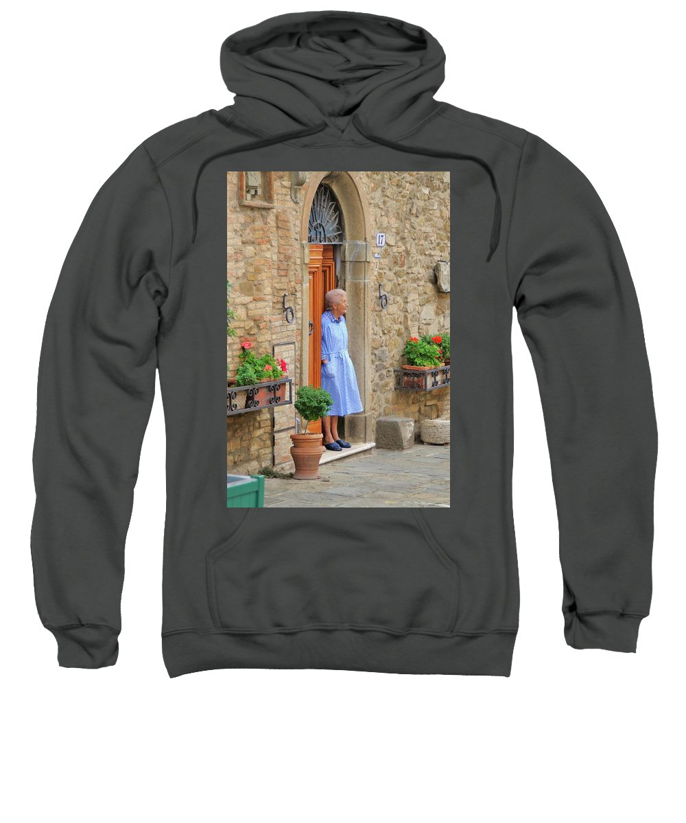 Italy Sweatshirt featuring the photograph Neighborhood Watch by Jim Benest