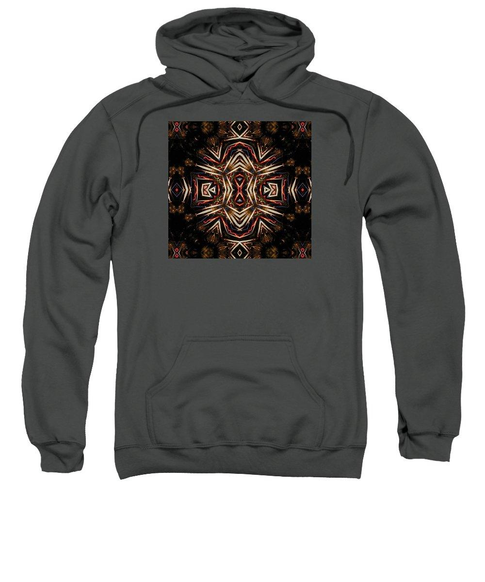 Kaleidoscope Sweatshirt featuring the photograph Neon Exploding Hourglass by M E Cieplinski