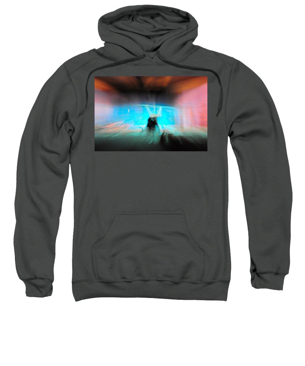 Long Exposure Sweatshirt featuring the photograph Neon Stick by Scott Sawyer