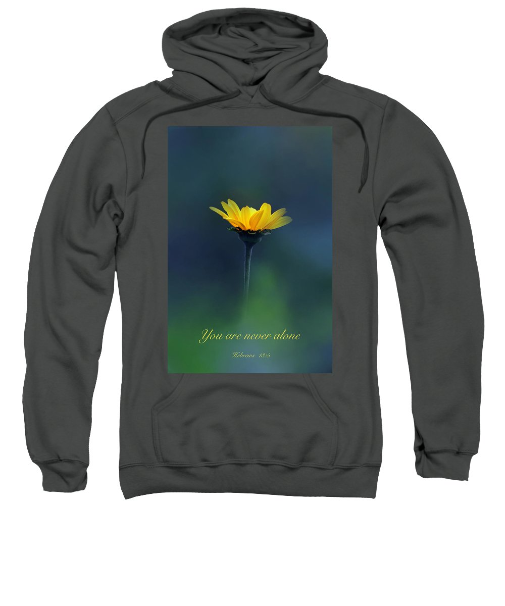 Scripture Sweatshirt featuring the photograph Never Alone by Debbie Nobile