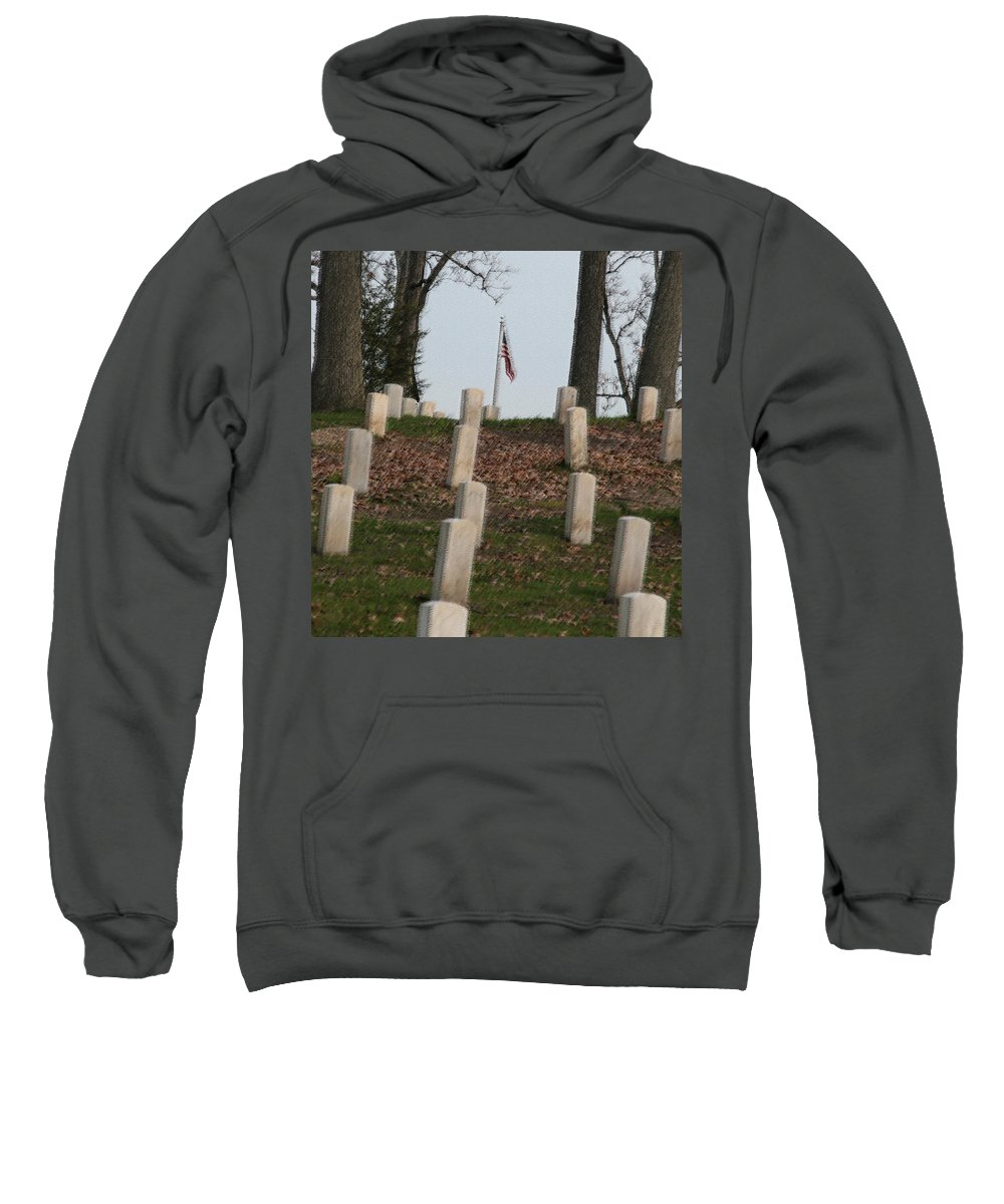 America Sweatshirt featuring the photograph Never Forget The Cost by Robert Pearson