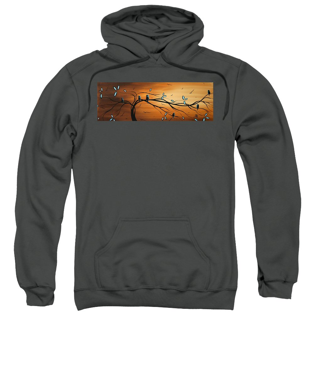 Original Sweatshirt featuring the painting New Bloom By Madart by Megan Duncanson