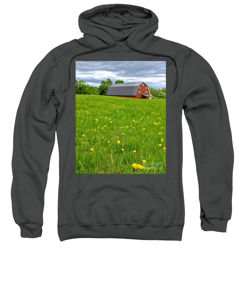 New Hampshire Sweatshirt featuring the photograph New England Landscape by Edward Fielding