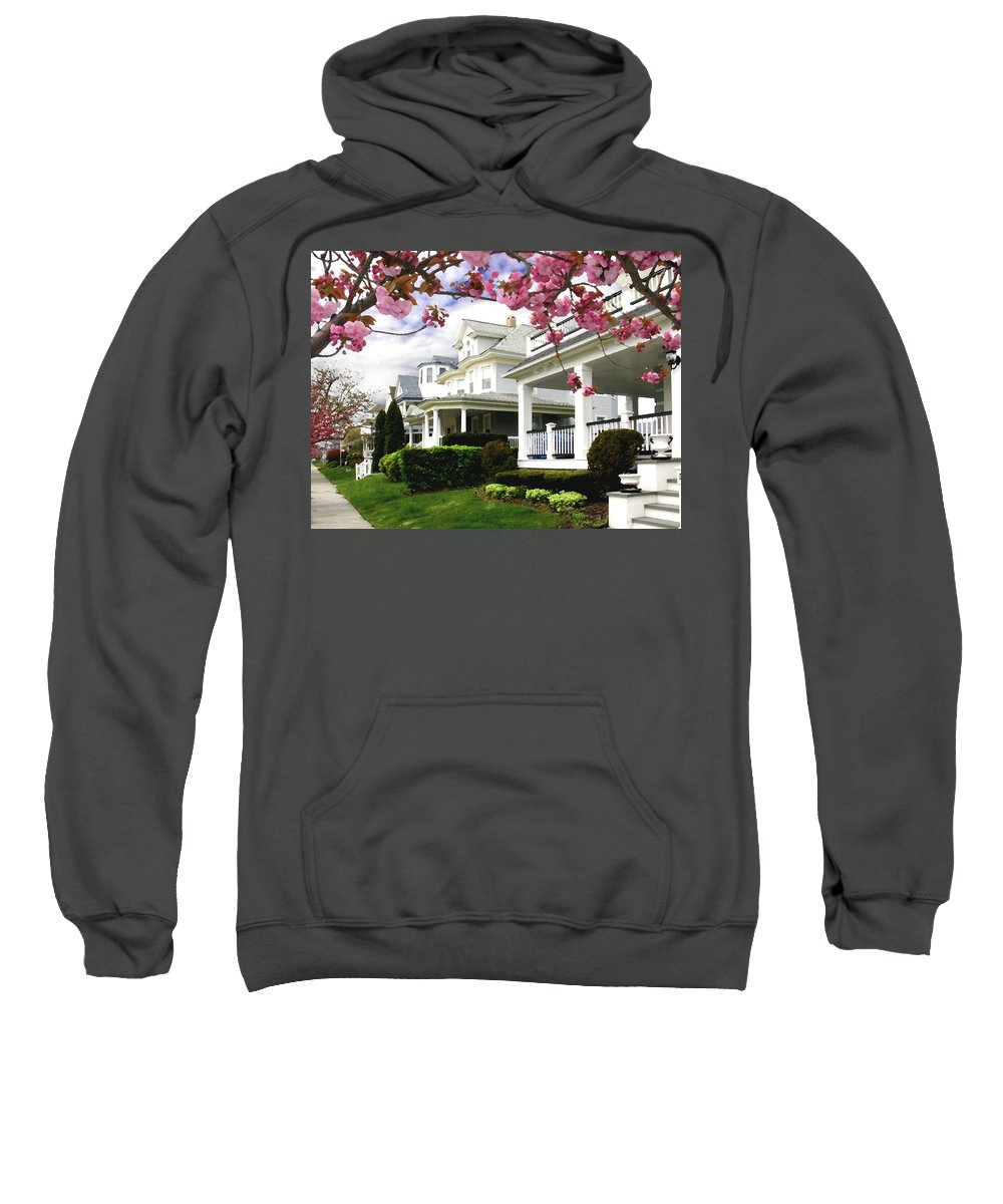 Spring Sweatshirt featuring the digital art New Jersey Shore Spring by Steve Karol