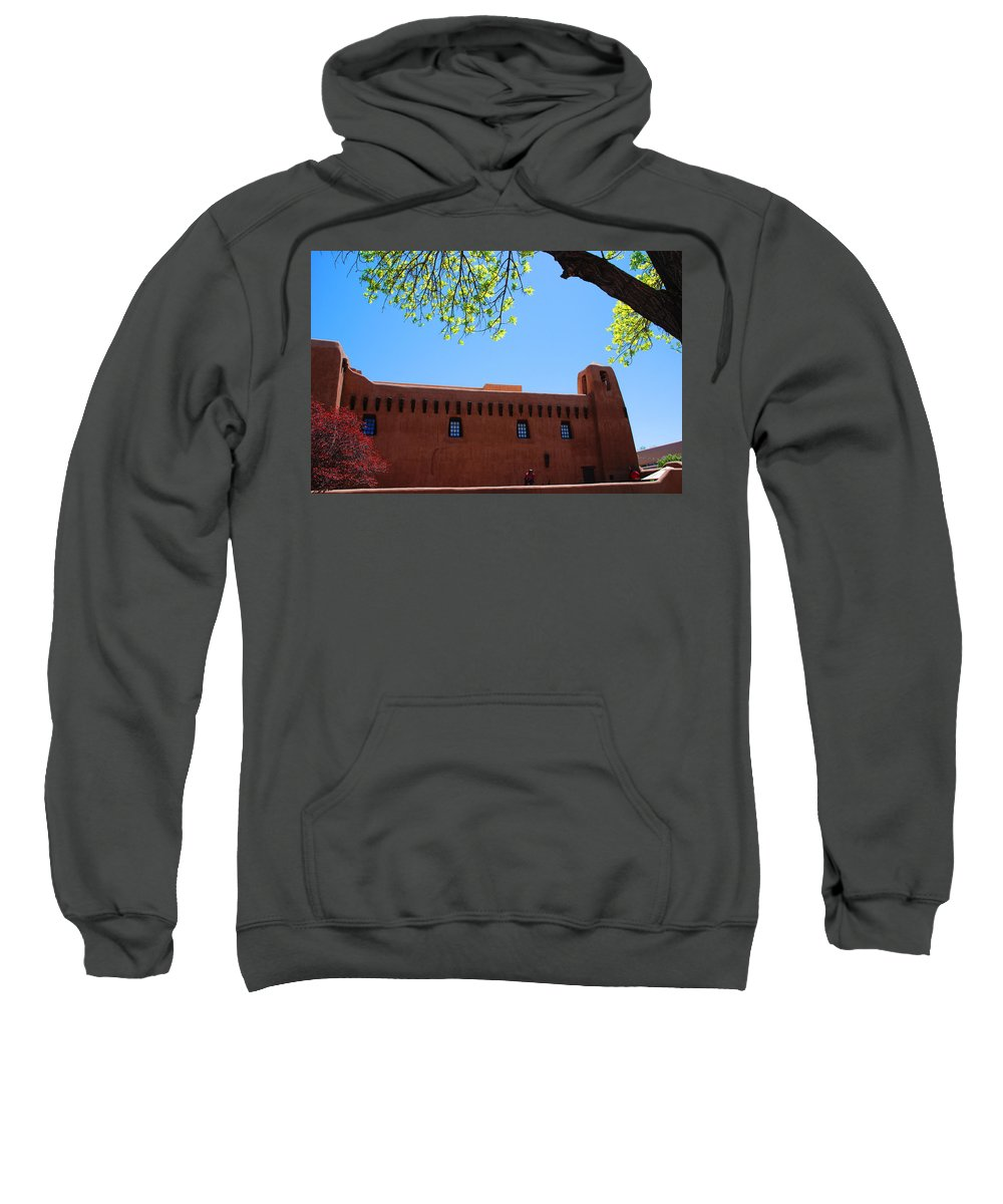 New Mexico Sweatshirt featuring the photograph New Mexico Museum Of Art by Susanne Van Hulst
