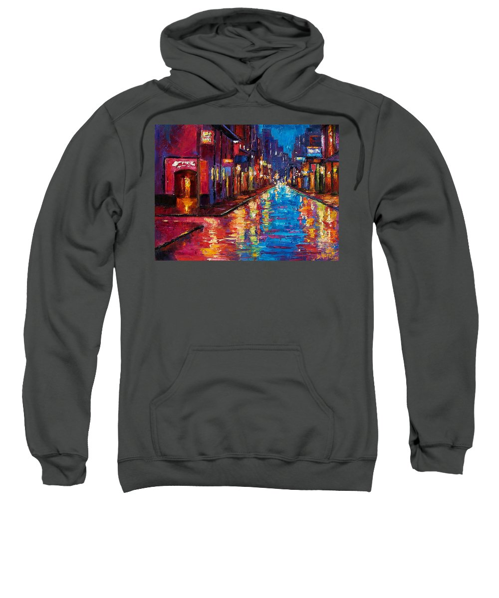 New Orleans Sweatshirt featuring the painting New Orleans Magic by Debra Hurd