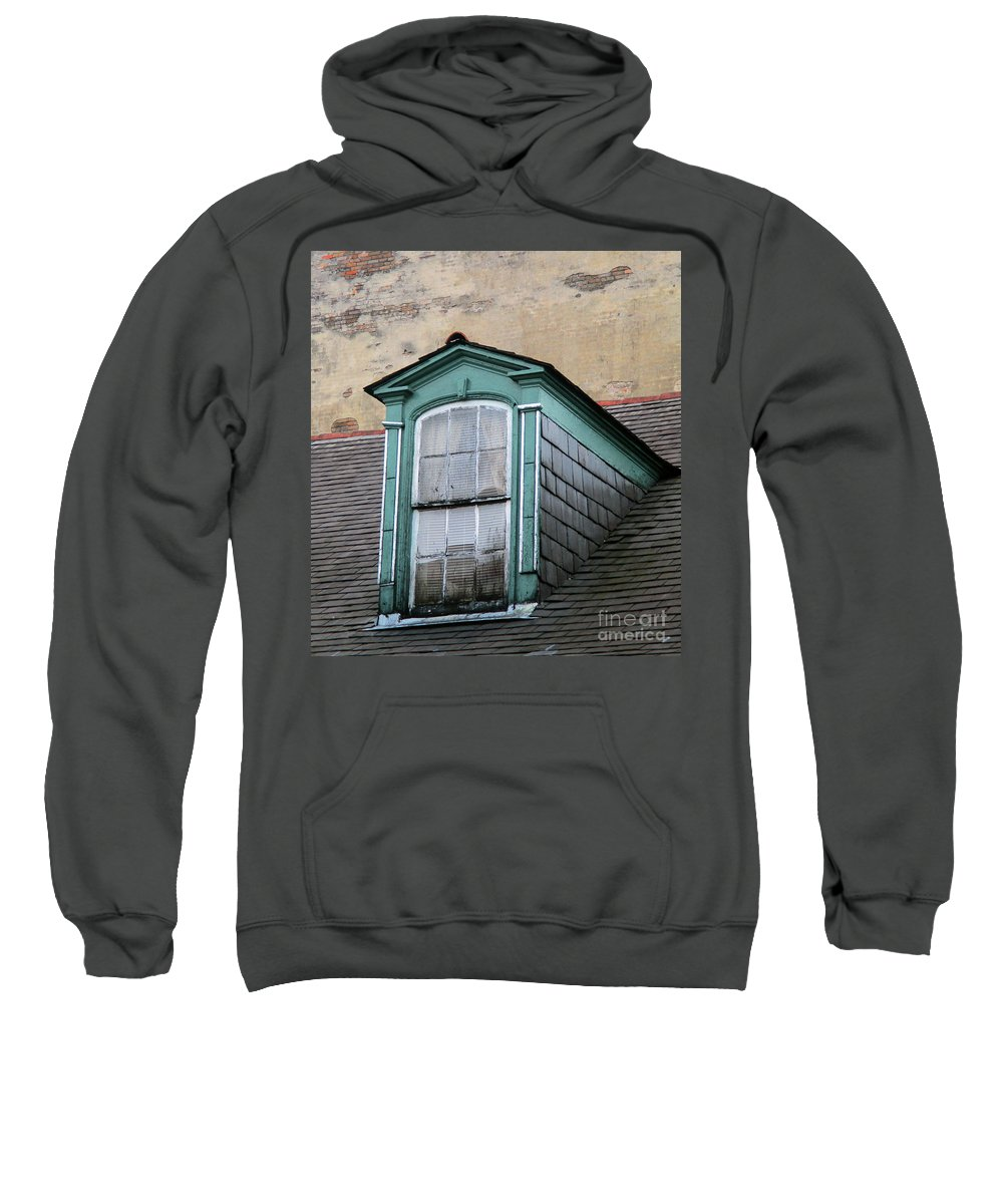 New Orleans Sweatshirt featuring the photograph New Orleans Windows 2 by Randall Weidner
