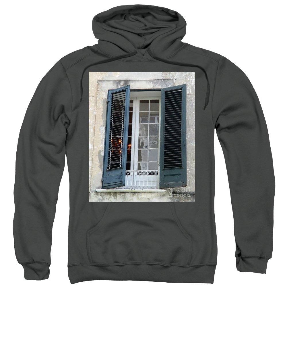 New Orleans Sweatshirt featuring the photograph New Orleans Windows 5 by Randall Weidner