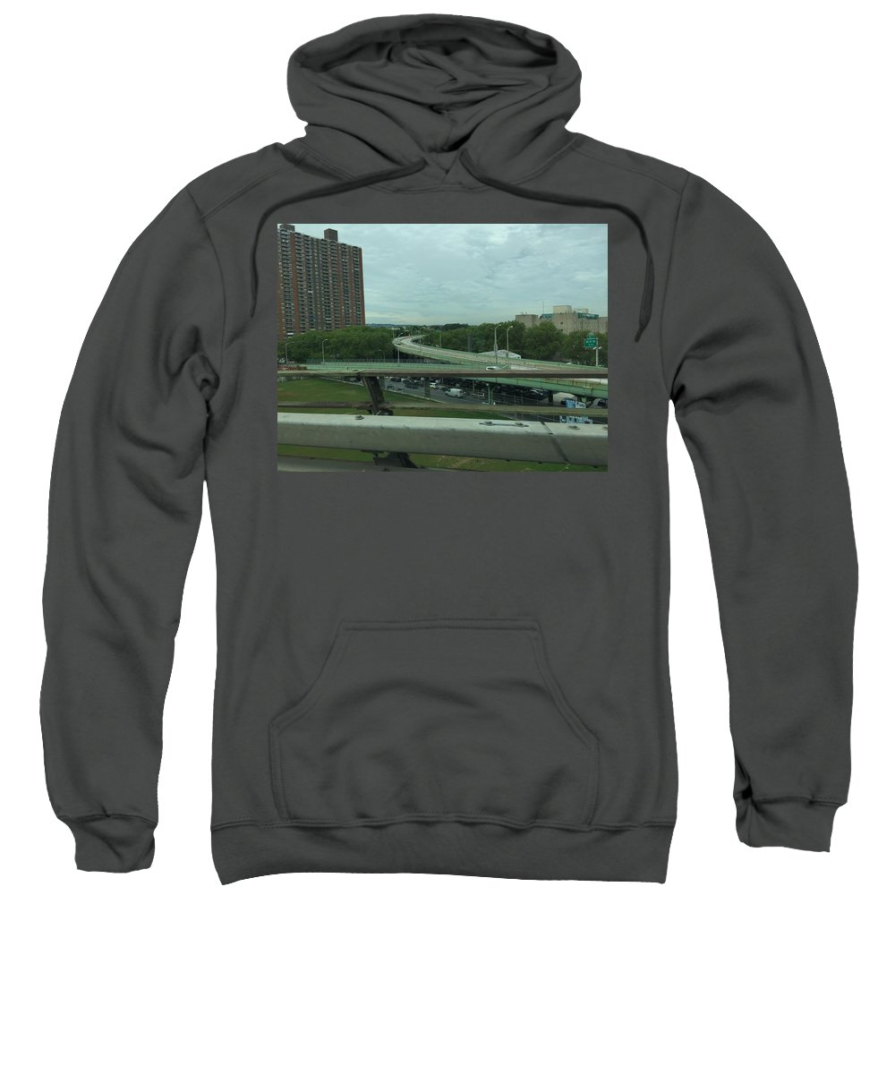 Cities Sweatshirt featuring the photograph New York 3 by Sabina Trzebna