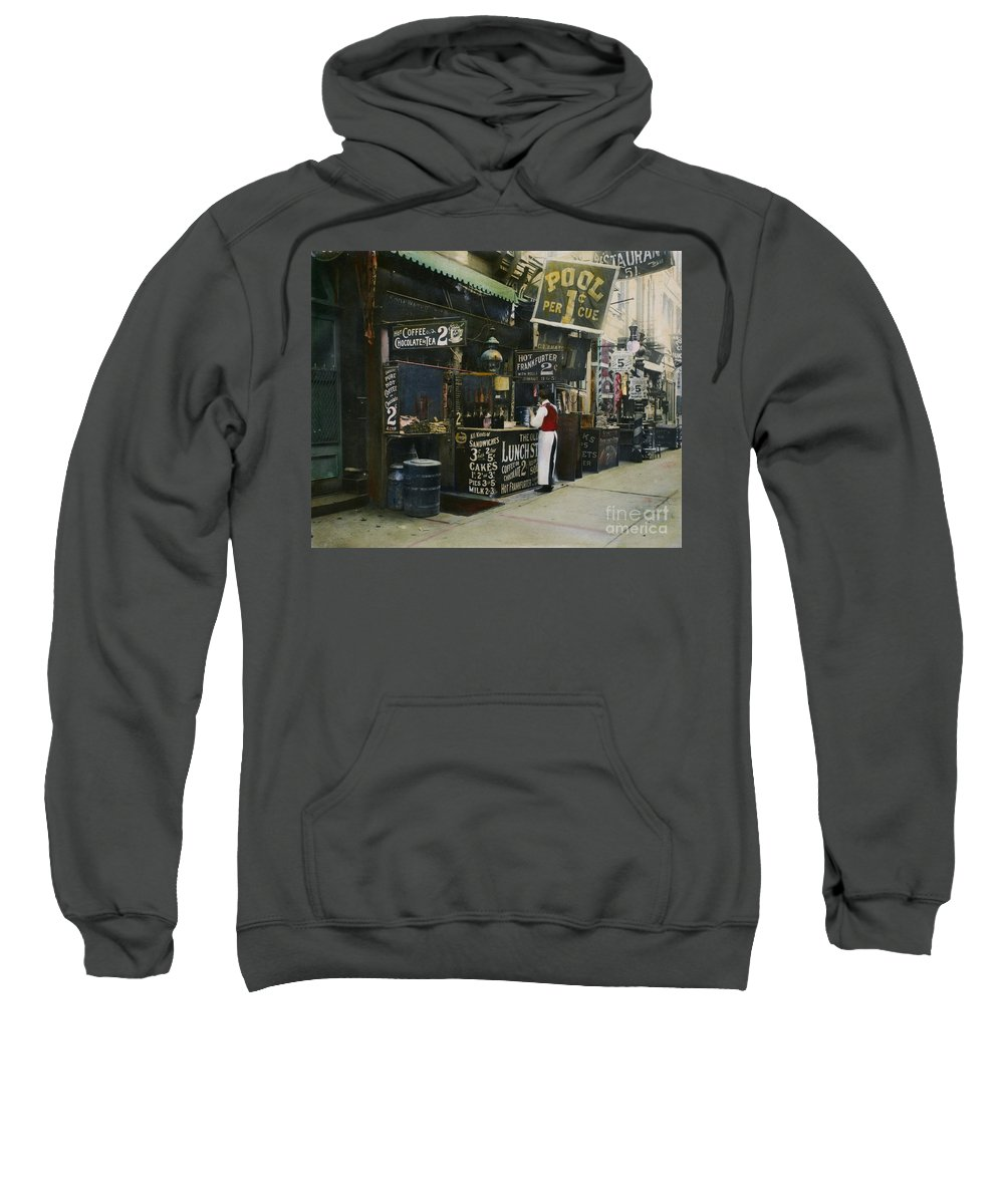 1905 Sweatshirt featuring the photograph New York City Restaurant by Granger