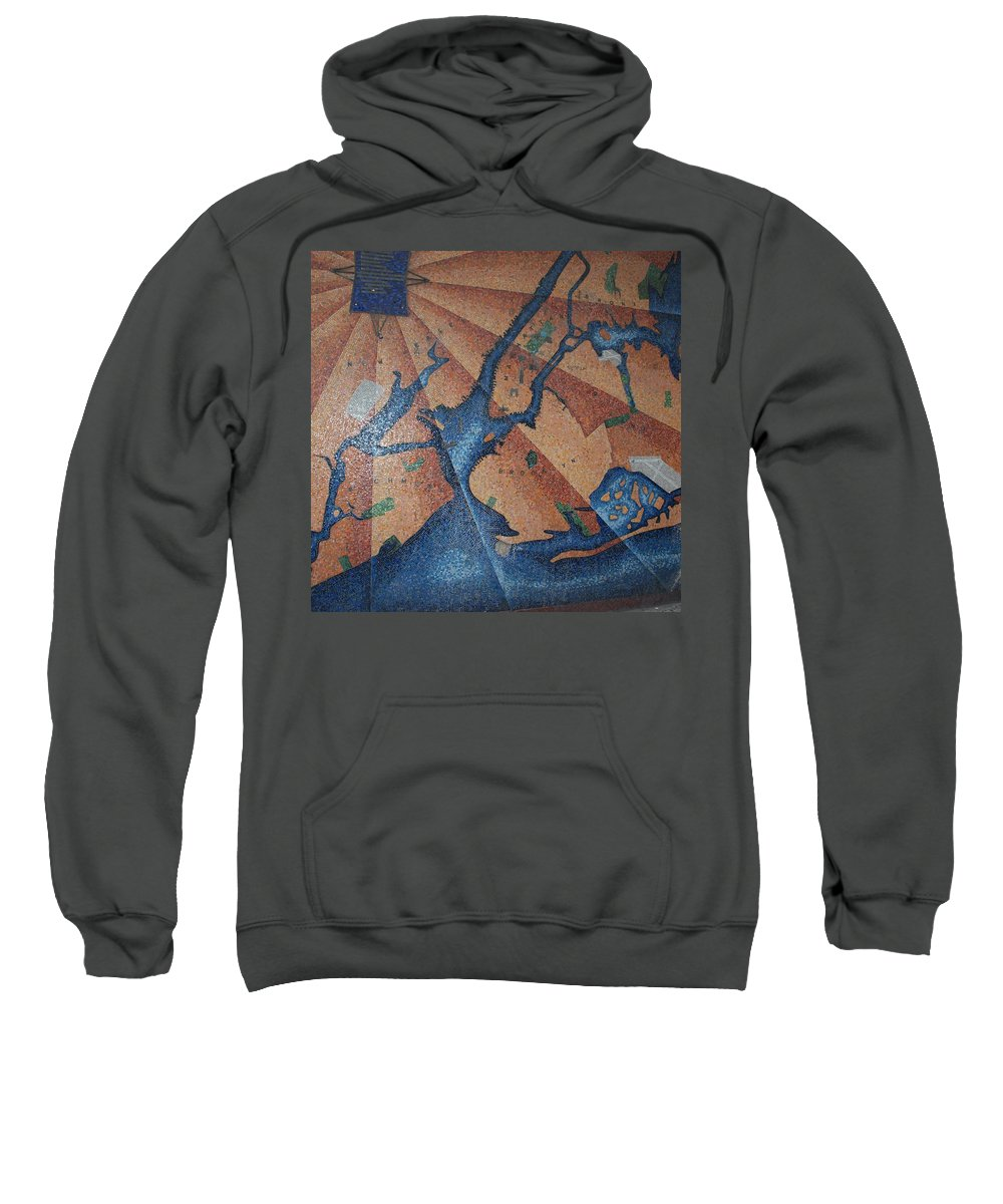 Times Square Sweatshirt featuring the photograph New York In Mosaic by Rob Hans
