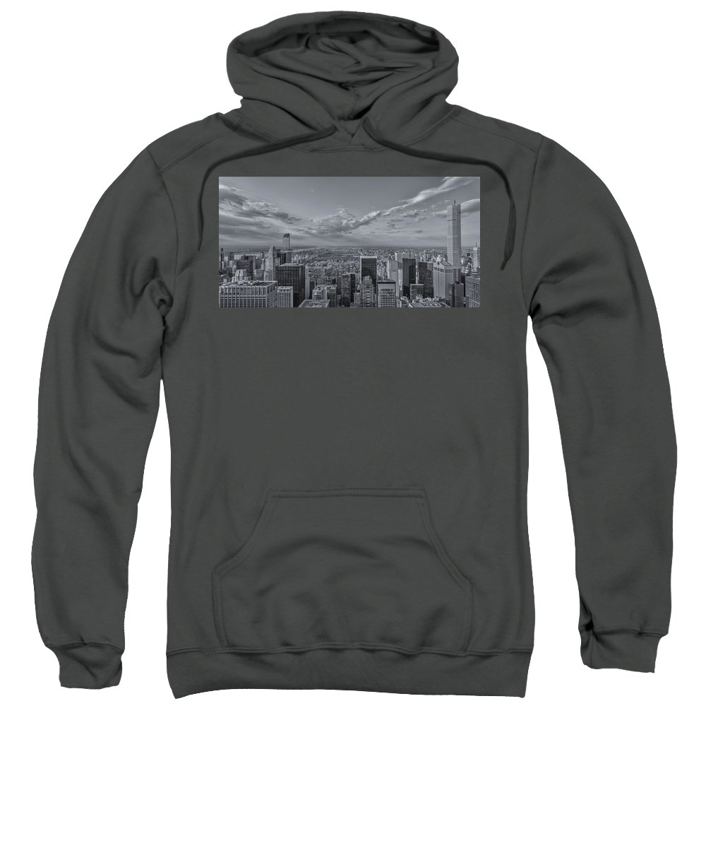 New York Sweatshirt featuring the photograph New York Skyline - View On Central Park - 2 by Christian Tuk