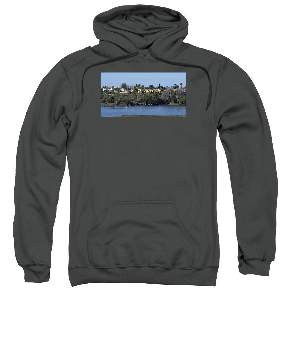 Linda Brody Sweatshirt featuring the photograph Newport Estuary Looking Across At Homes I by Linda Brody