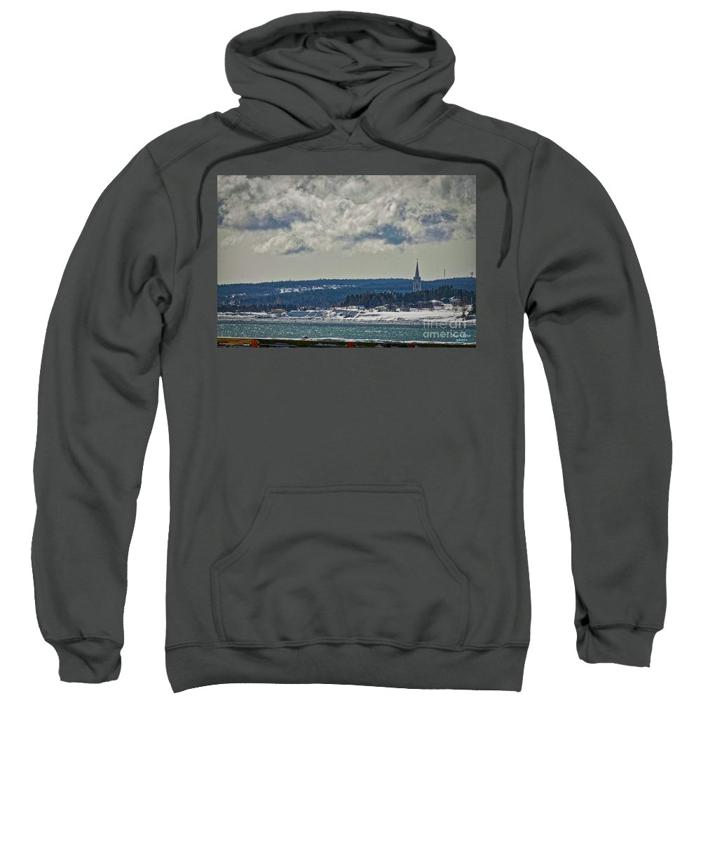 Sweatshirt featuring the photograph Newport2 by Marc Thibault