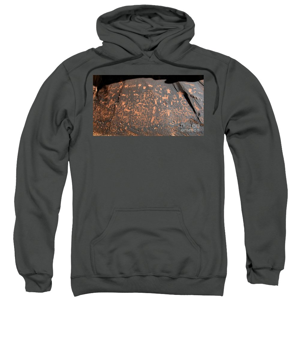 Newspaper Rock State Park Utah Sweatshirt featuring the photograph Newspaper Rock by David Lee Thompson
