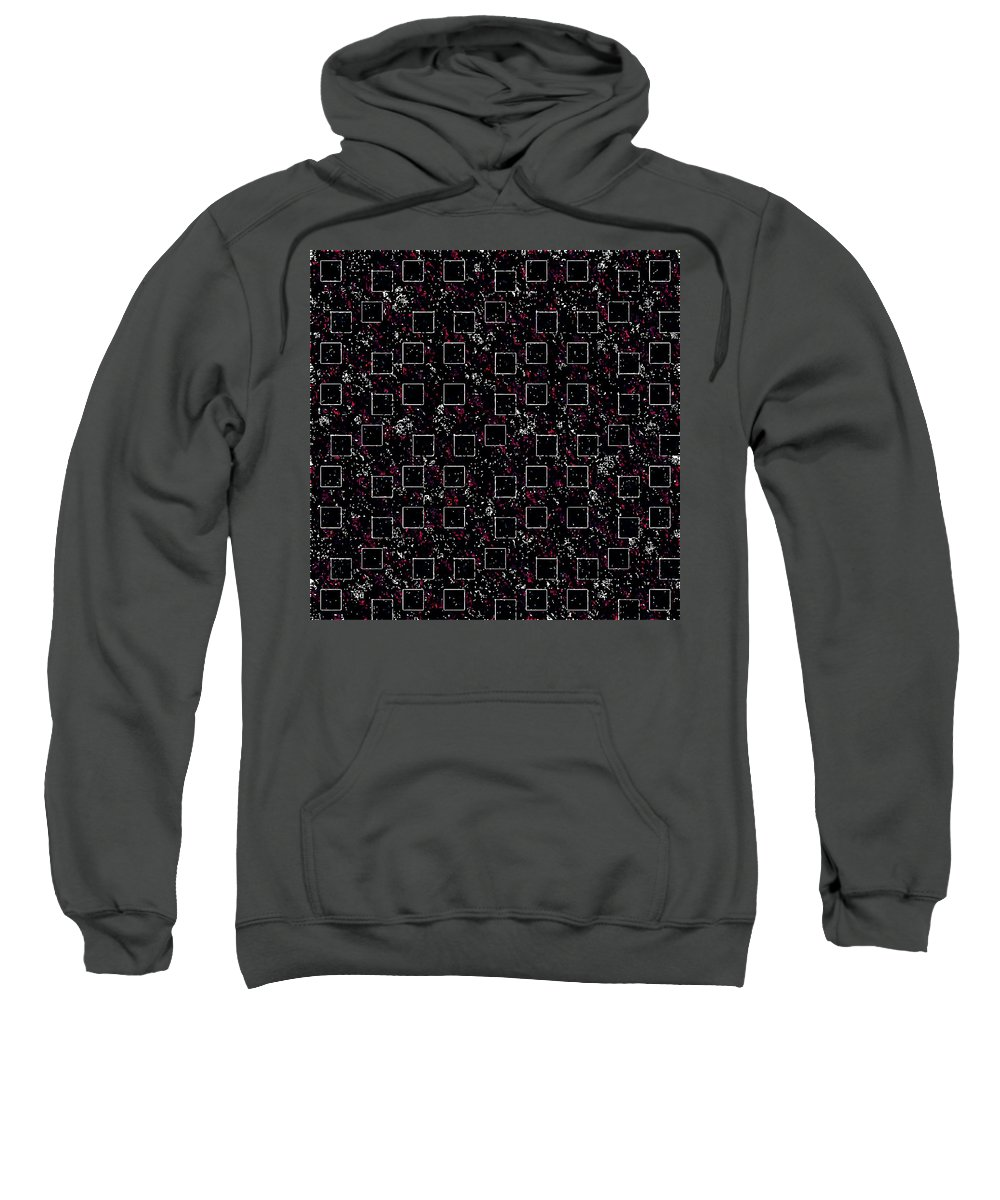 Kaleidoscope Sweatshirt featuring the digital art Night Abstraction by Aleksei Titov