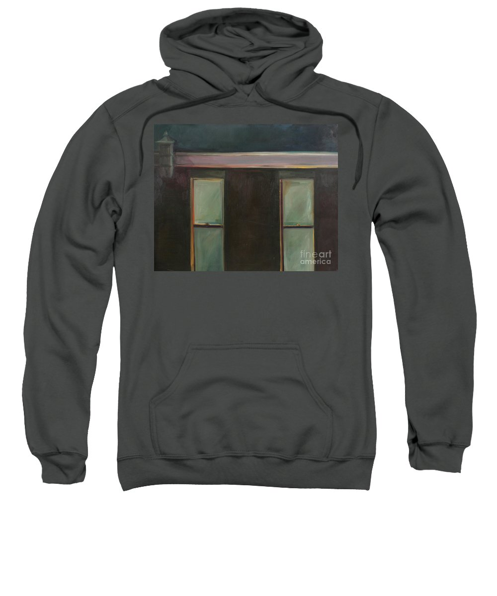 Oil Sweatshirt featuring the painting Night by Daun Soden-Greene