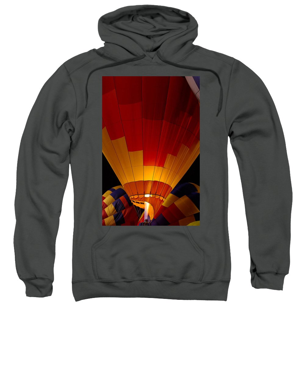 Balloon Sweatshirt featuring the photograph Night Flight by Mike Dawson