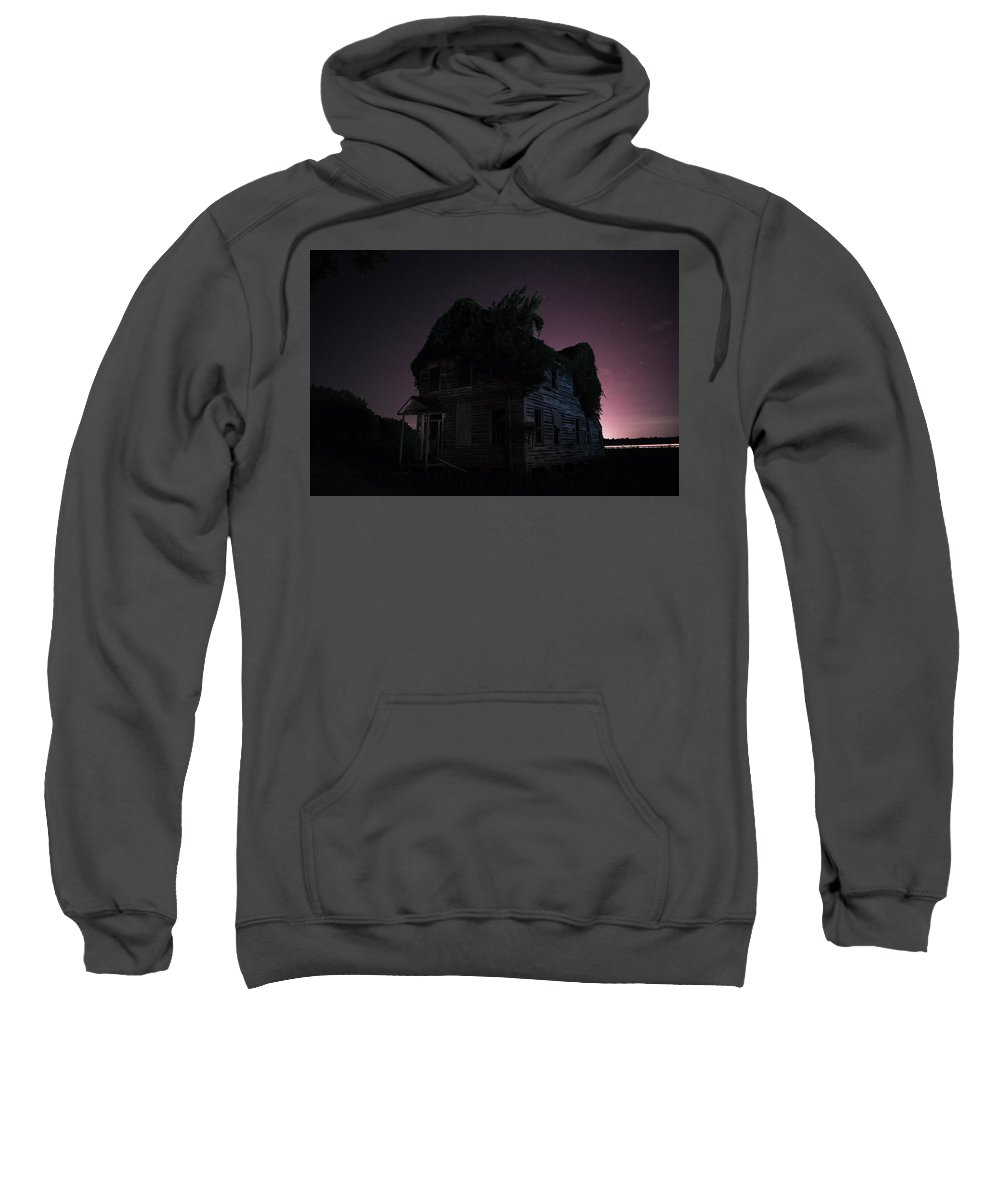 Abandoned Sweatshirt featuring the photograph Night House by Benjamin Dunlap