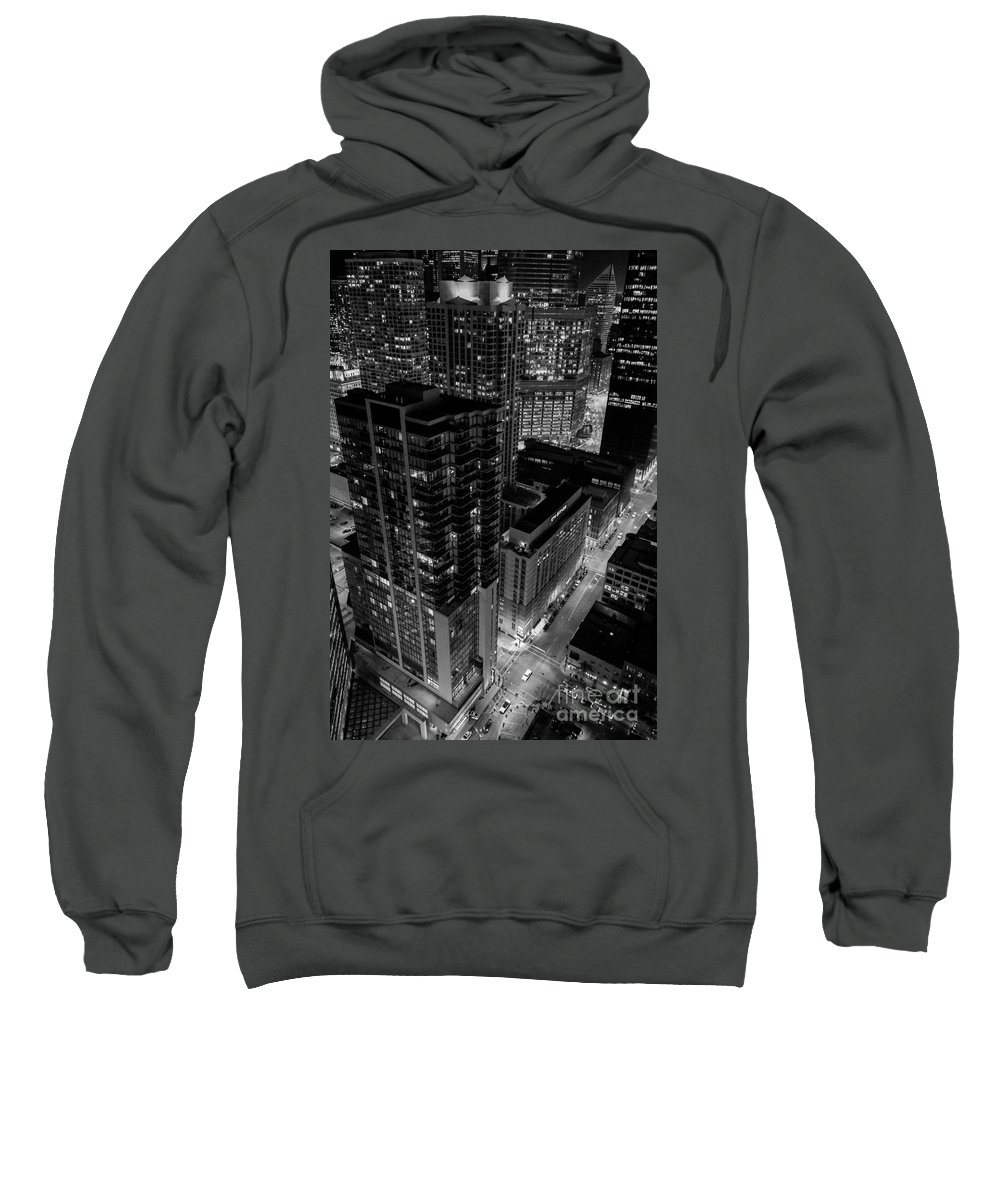 Chicago Sweatshirt featuring the photograph Night Lights by Ryan Ware