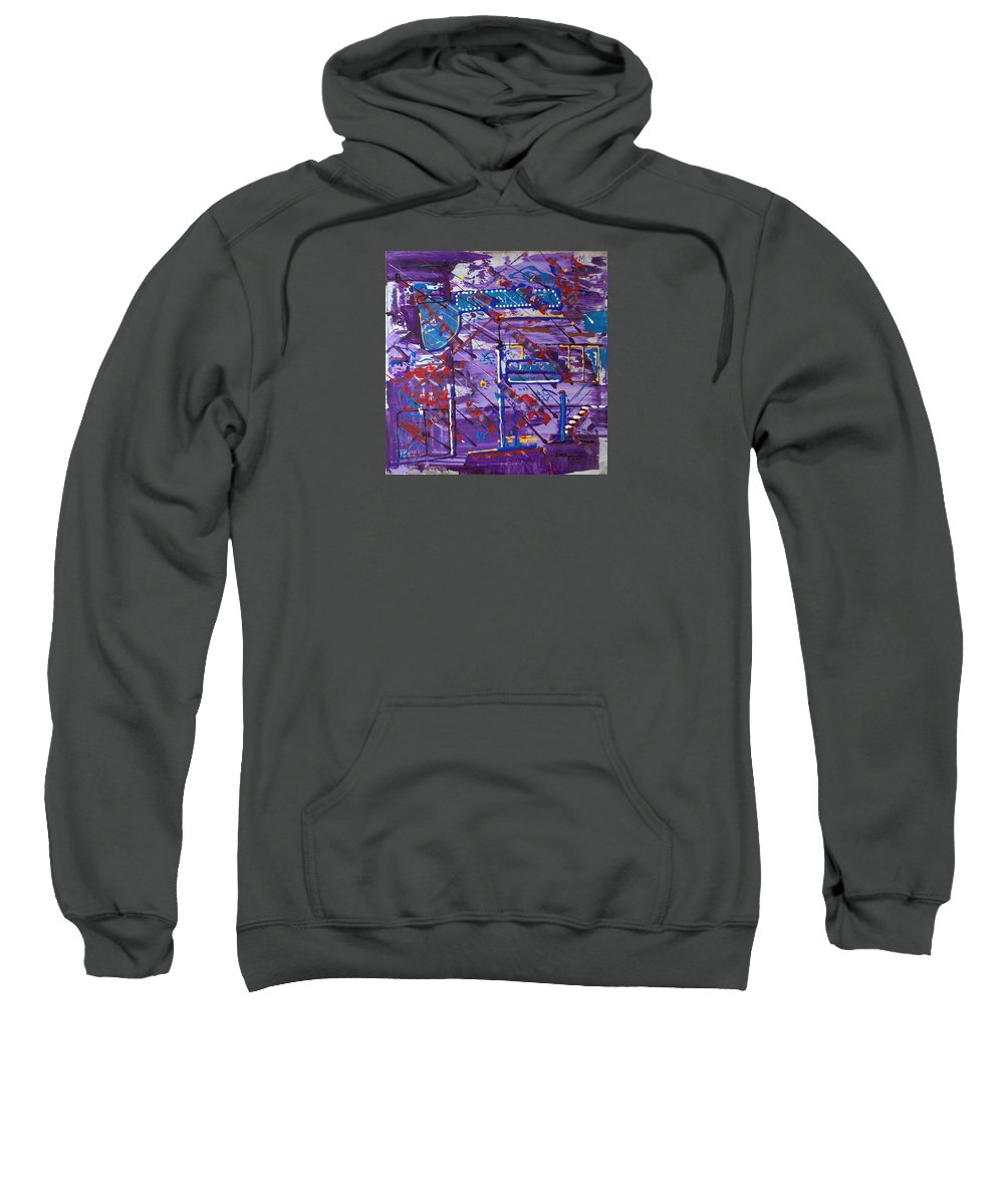 Abstract Painting Sweatshirt featuring the painting Nightlife Lights by J R Seymour