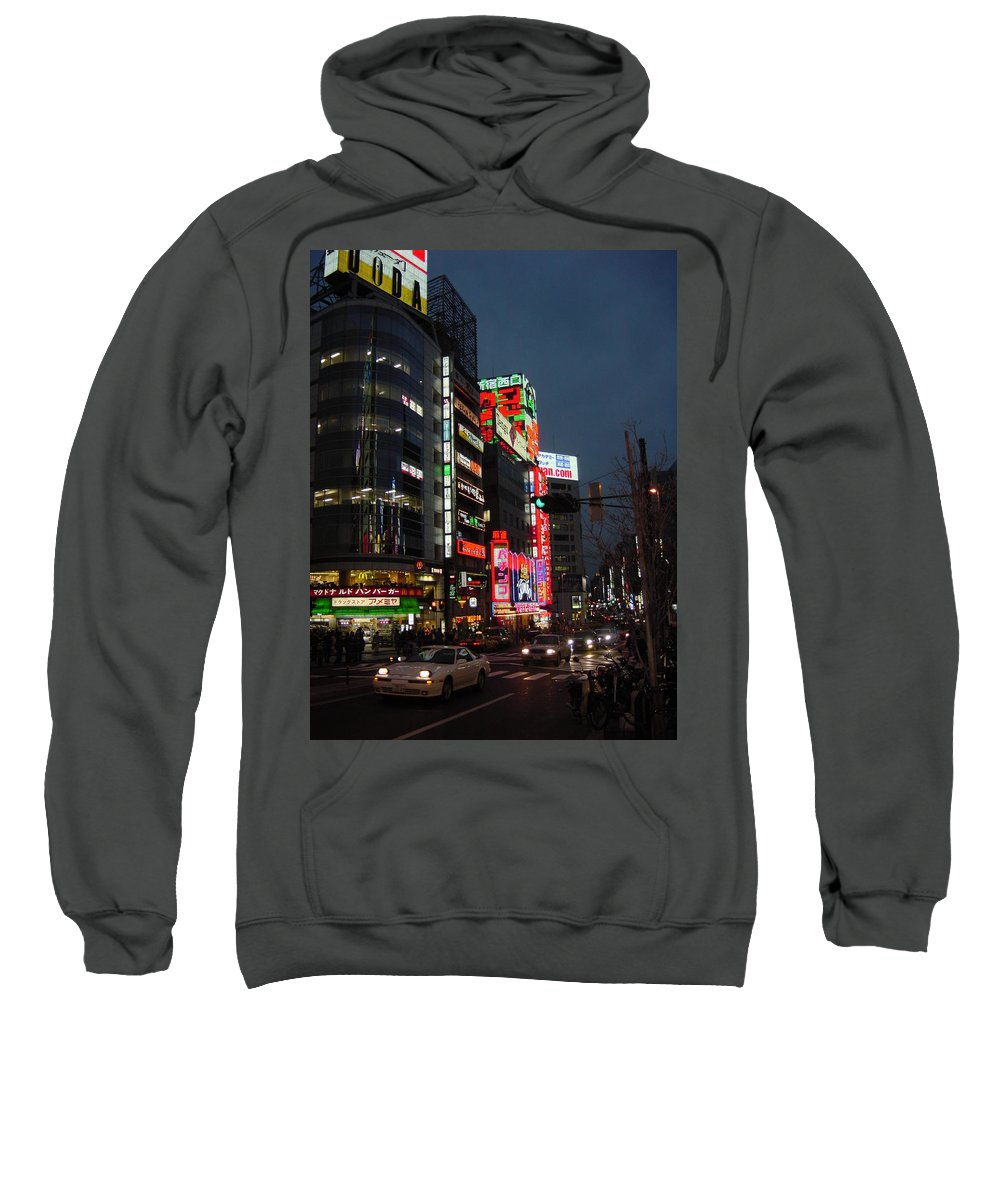 Cityscape Sweatshirt featuring the photograph Nightlife's Dawn by D Turner